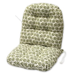 Μαξιλάρια για πολυθρόνες μπαμπού. Ύφασμα ζακάρ φύλλα ελιάς.