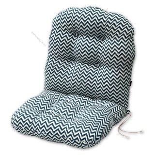 Μαξιλάρια για πολυθρόνες μπαμπού. Ύφασμα ζακάρ ζικ-ζακ σε 3 αποχρώσεις.