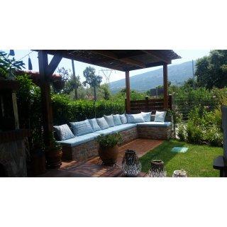 Μαξιλάρια εξωτερικού χώρου χτιστού καναπέ