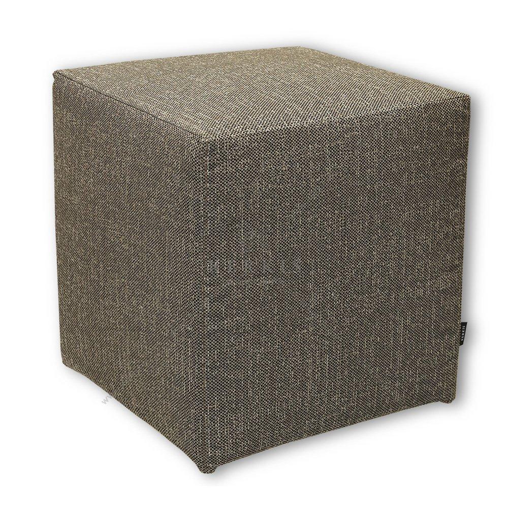 Σκαμπό κύβος καφέ από την Kerkis Tailormade Comfort, με κάλυμμα που αφαιρείται εύκολα για πλύσιμο, αλλά και για ανανέωση στη διακόσμηση του χώρου σας όποτε χρειαστεί!