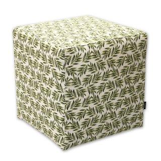Σκαμπό κύβος πράσινο φύλλα ελιάς από την Kerkis Tailormade Comfort, ιδανικό συμπληρωματικό κάθισμα για κάθε χώρο, ευέλικτο, καλαίσθητο και άνετο!