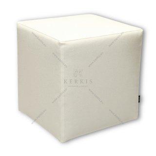 Σκαμπό κύβος λευκός