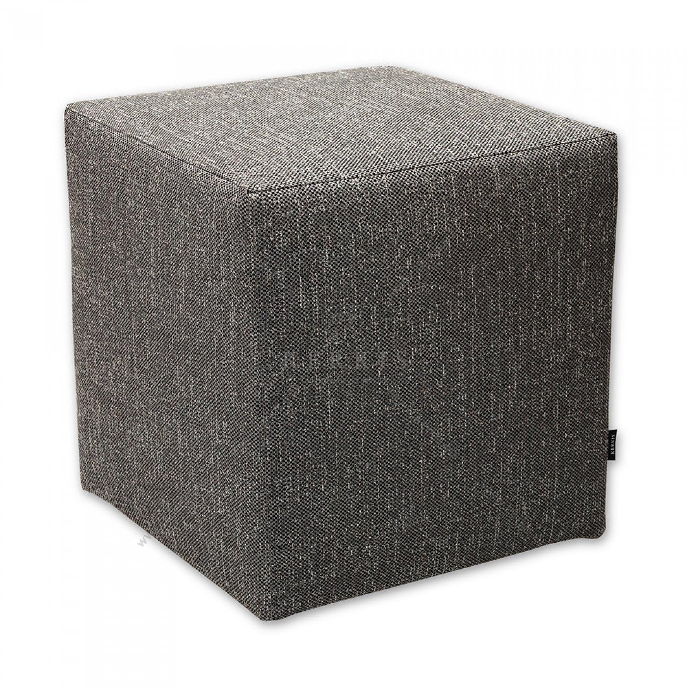 Σκαμπό κύβος γκρι, από την kerkis Tailormade Comfort, με κάλυμμα που αφαιρείται εύκολα δίνοντας τη δυνατότητα αλλαγής όποτε θέλετε να ανανεώσετε τη διακόσμηση του χώρου σας!