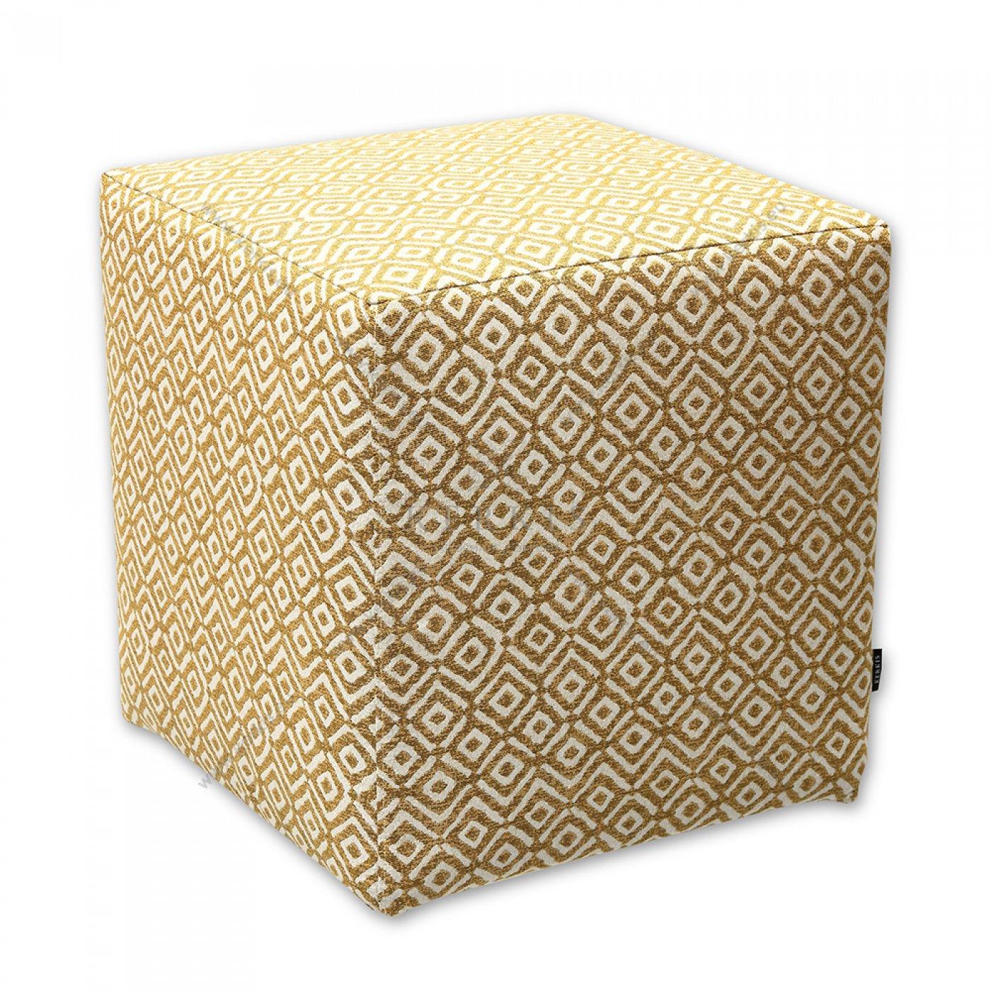 Σκαμπό κύβος κίτρινο ρόμβος από την Kerkis Tailormade Comfort. Ιδανικός για κάθε δωμάτιο ξενοδοχείου, κάθισμα για το μπουντουάρ, το γραφείο, την υποδοχή!
