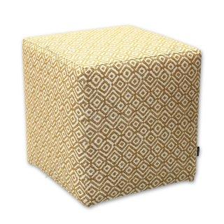 Σκαμπό κύβος κίτρινος ρόμβος