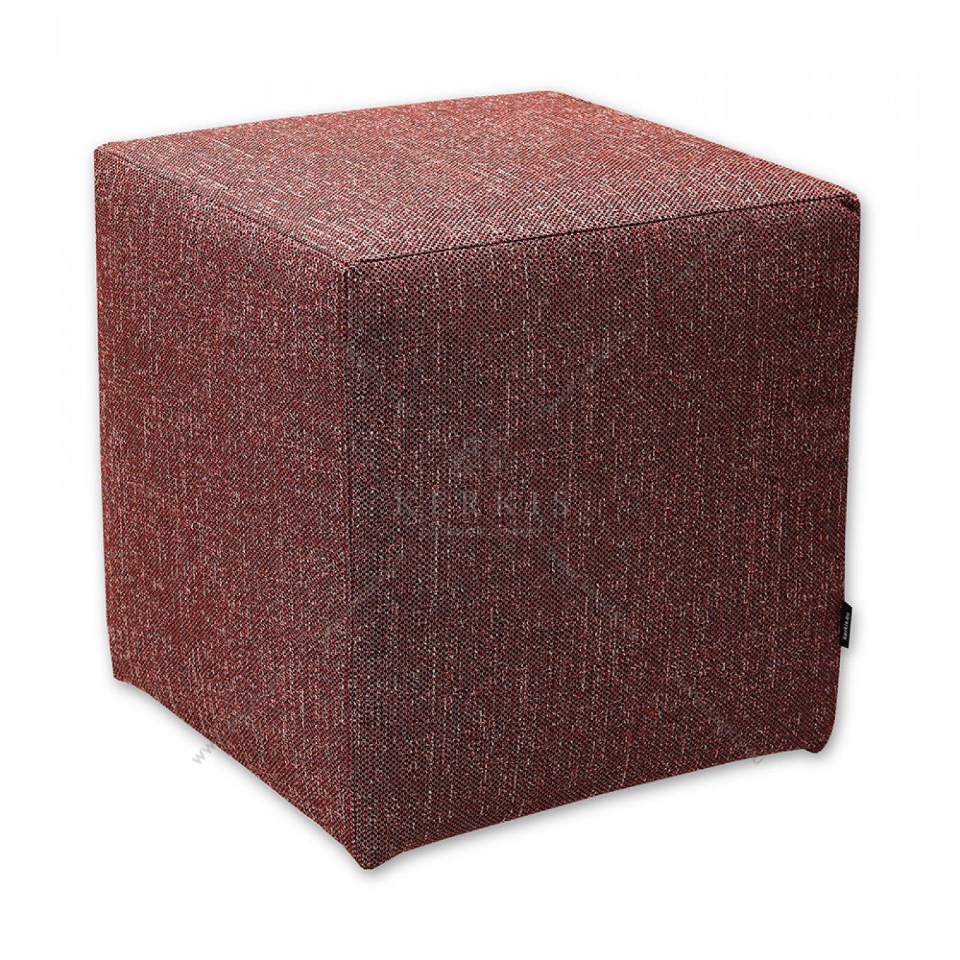 Σκαμπό κύβος κόκκινος από την Kerkis Tailormade Comfort με κάλυμμα που αφαιρείται και επανατοποθείται πανεύκολα!