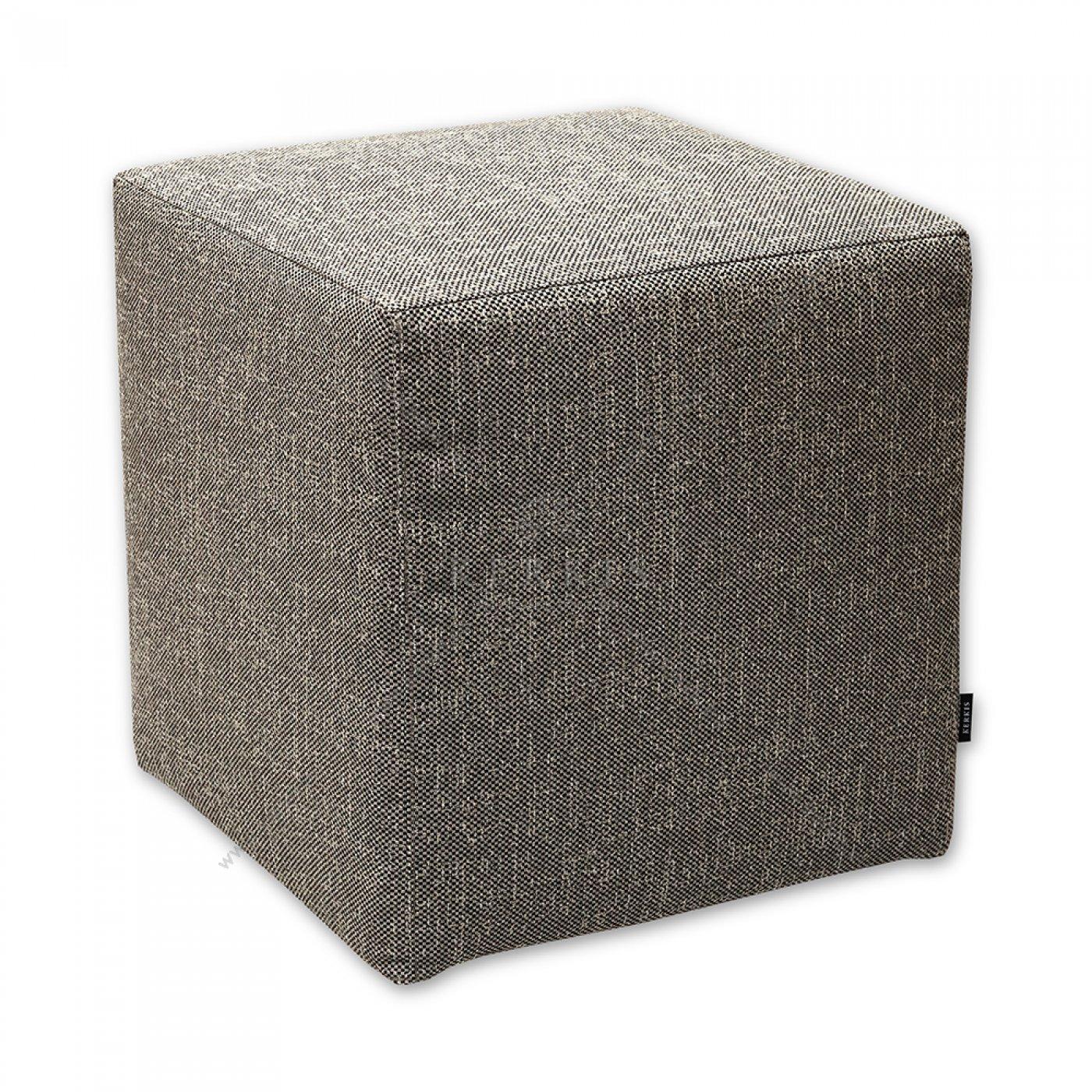 Σκαμπό κύβος μπεζ κατασκευασμένος από την Kerkis Tailormade Comfort με υψηλές προδιαγραφές ποιότητας για αισθητική και αντοχή.