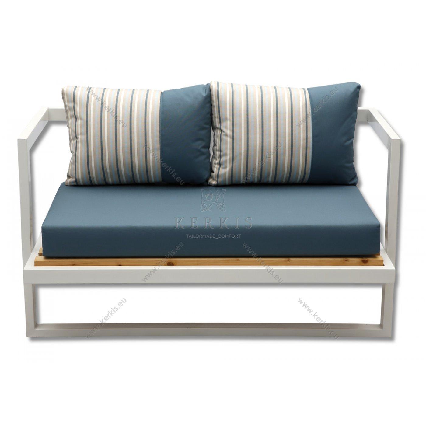Μαξιλάρια καναπέ με συνδυασμό υφασμάτων