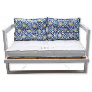Μαξιλάρια καναπέ με διακοσμητικά κουμπιά