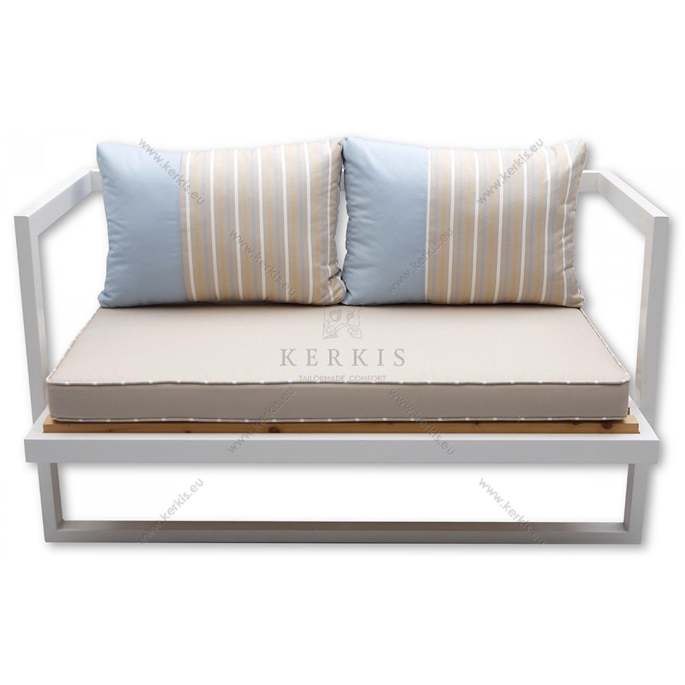 Μαξιλάρια καναπέ εξωτερικού χώρου με συνδυασμό δύο υφασμάτων στις πλάτες