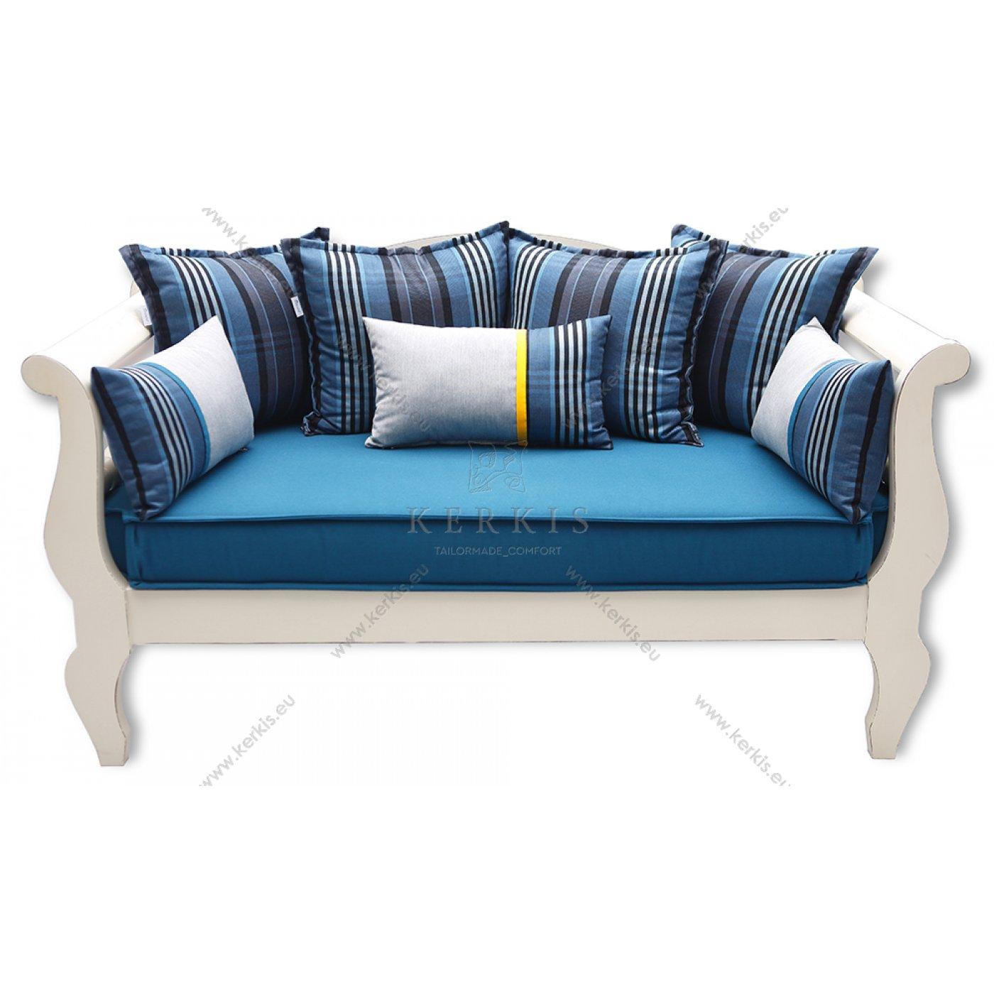 Μαξιλάρια παραδοσιακού καναπέ με υφάσματα sunbrella