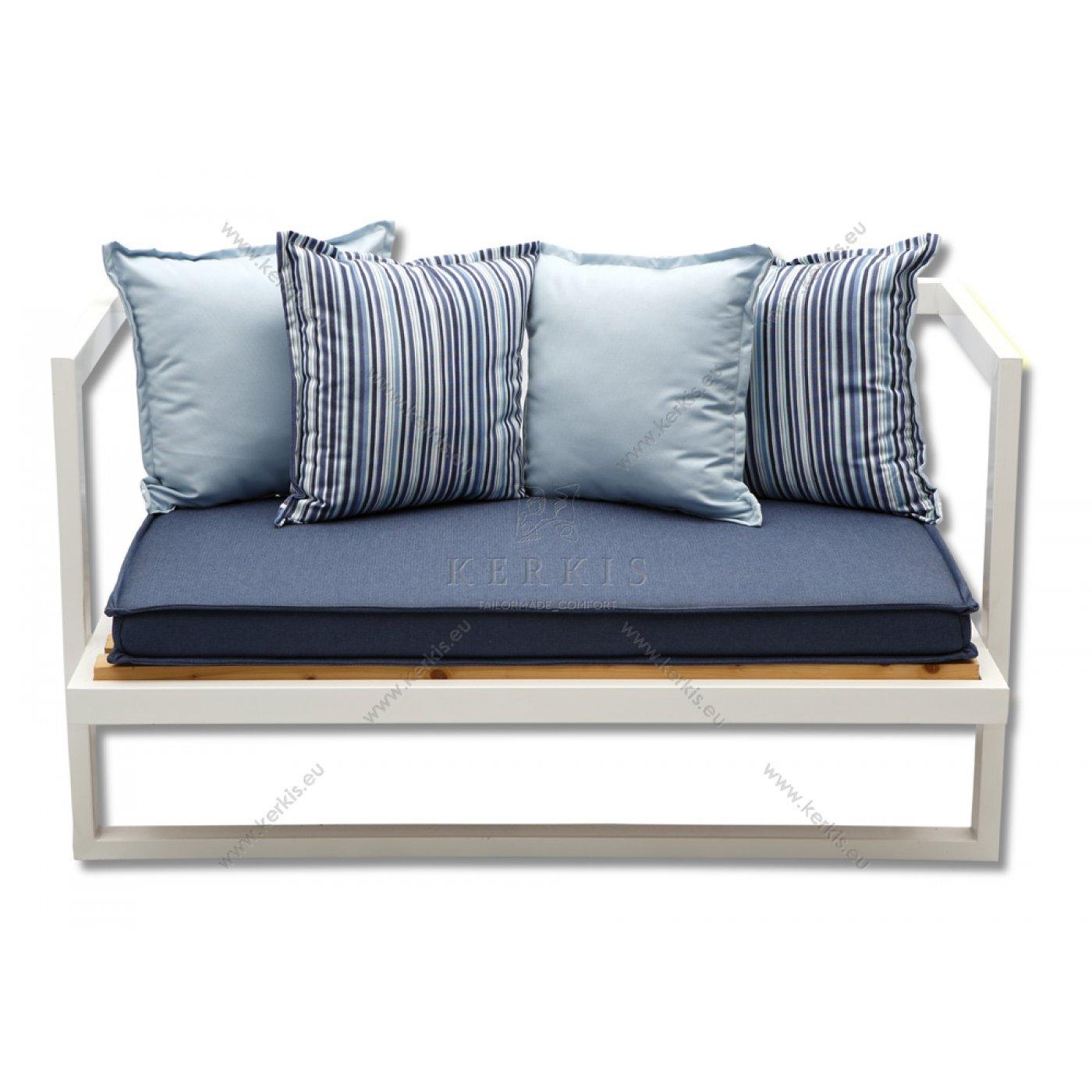 Μαξιλάρια καναπέ με διακοσμητικό σουπλά περιμετρικά