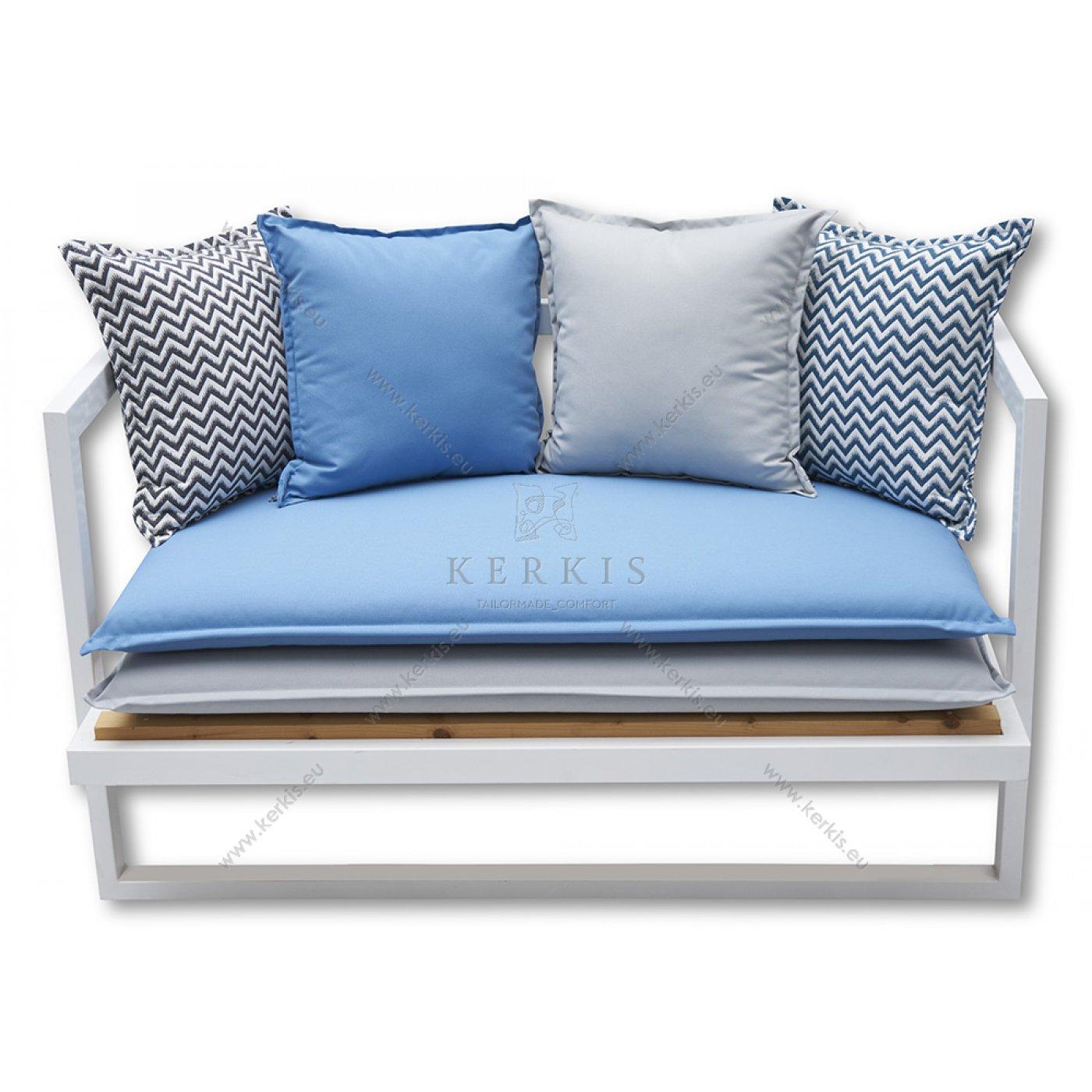 Μαξιλάρια καναπέ-πάγκου layer. Δύο μαξιλάρια βάσης σε συνδυασμό χρωμάτων