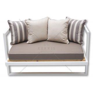 Μαξιλάρια καναπέ - πάγκου με διακοσμητικό φιλέτο στη βάση