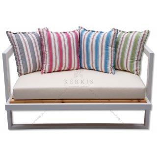 Μαξιλάρια καναπέ με διακοσμητικά πολύχρωμα μαξιλάρια για πλάτη