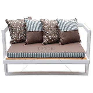 Μαξιλάρια καναπέ με διακοσμητικό περιμετρικό φιλέτο