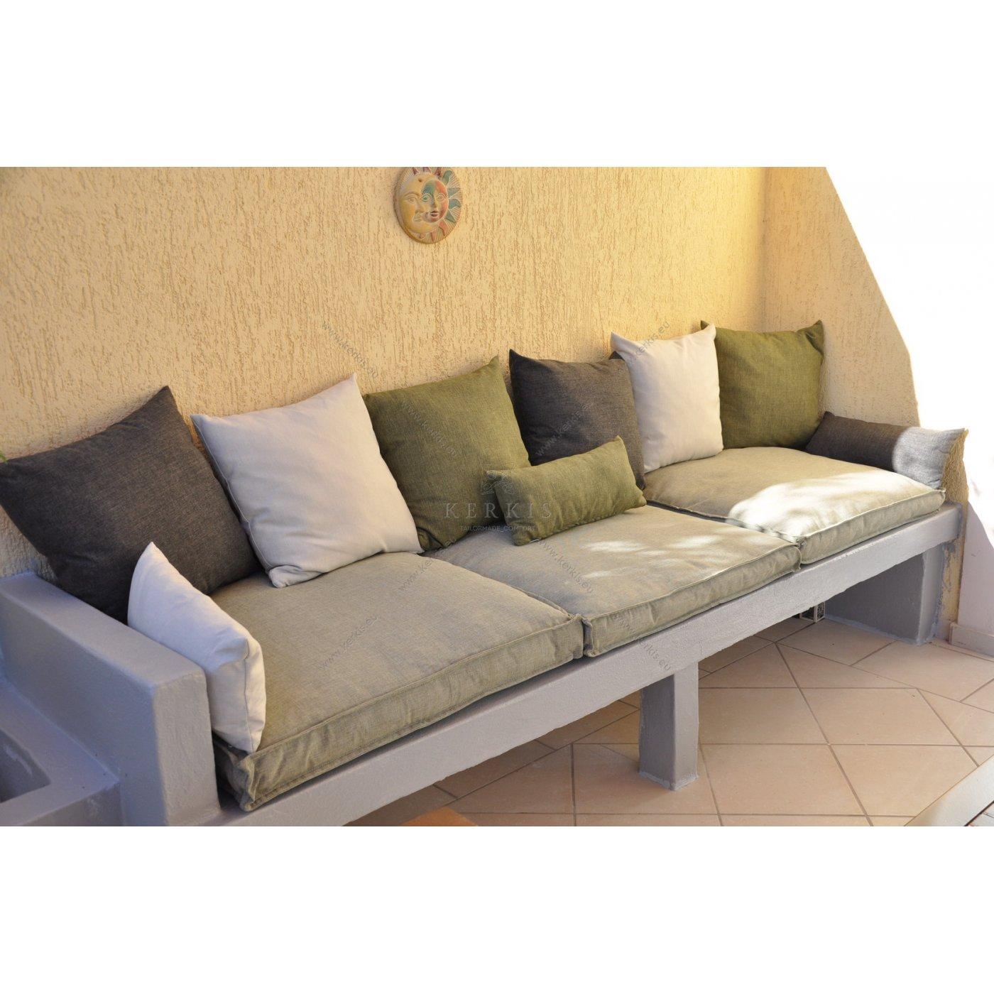 Μαξιλάρια χτιστών καναπέδων