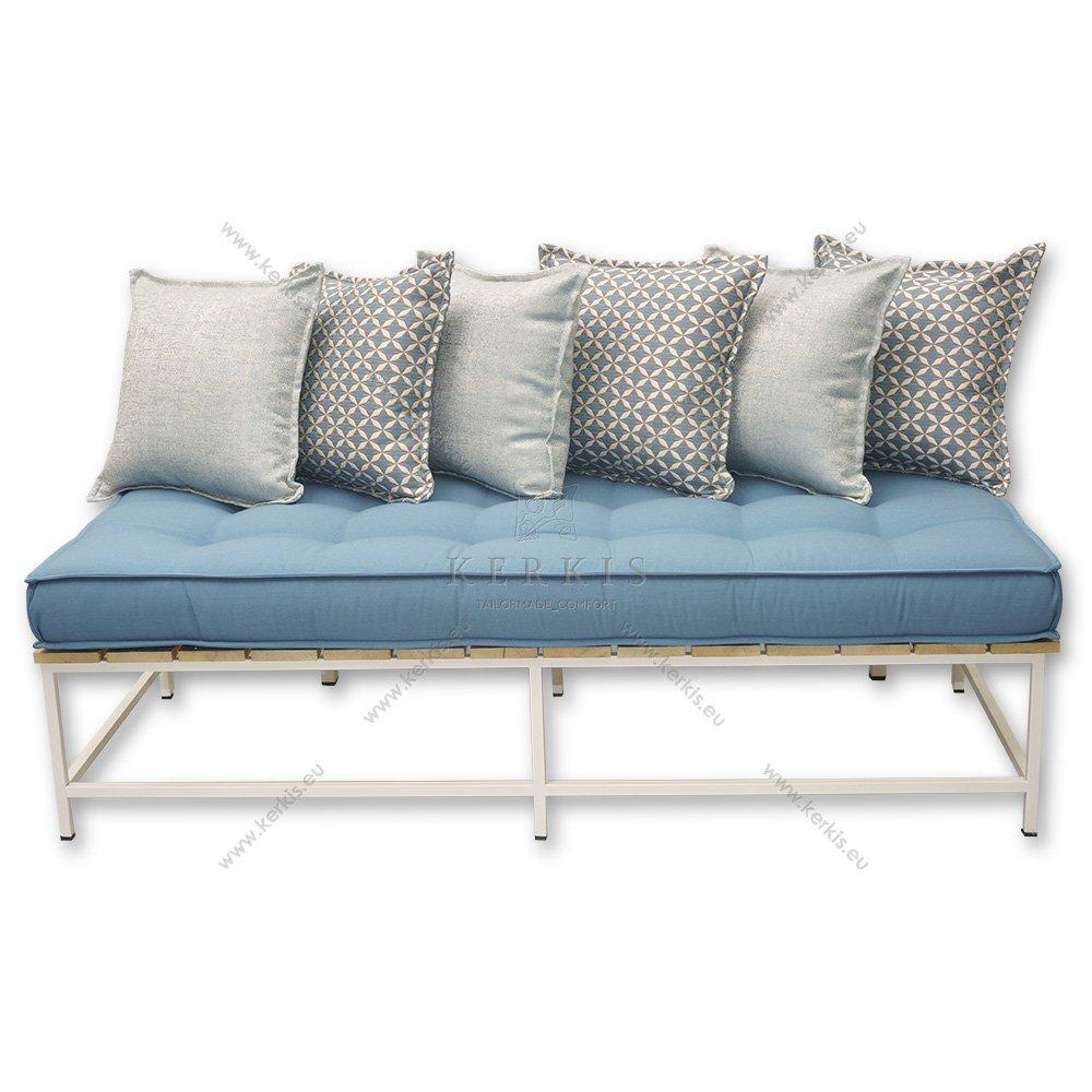 Στρώματα χτιστών καναπέδων με διακοσμητικά κουμπιά σε όλες τις διαστάσεις.