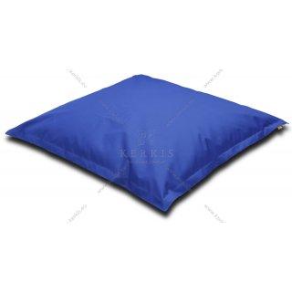 Μαξιλάρι - πουφ παραλίας σε μπλε χρώμα με διαστάσεις 1,50 Χ 1,50