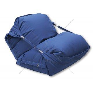 Πουφ παραλίας με ύφασμα outdoor blue navy solution dyed