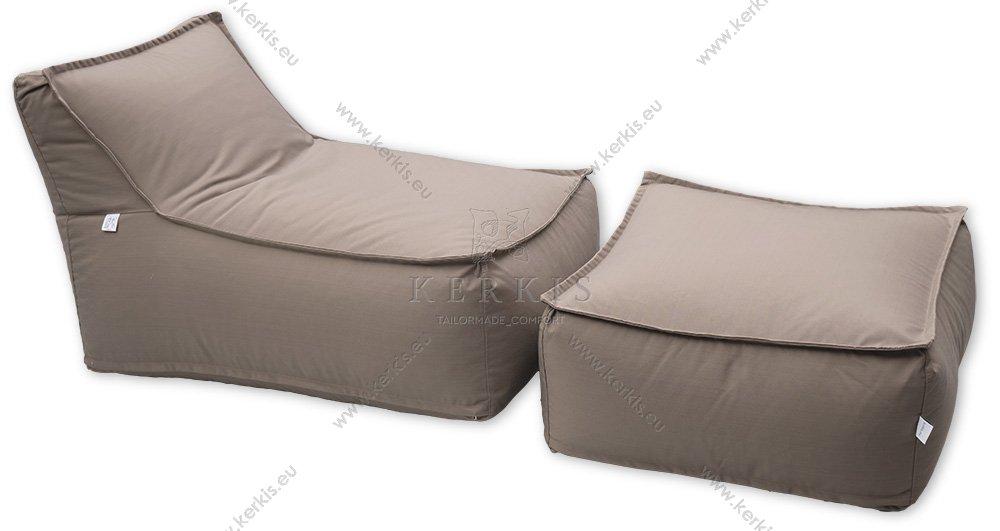 """Πουφ """"Άτλας 1"""" και σκαμπό """"Άτλας"""", κατασκευασμένα από την Kerkis Tailormade Comfort για κάθε εξωτερικό χώρο και όχι μόνο!"""