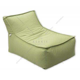 """Πουφ """"Άτλας 1"""" από την Kerkis Tailormade Comfort σε φωτεινό χρώμα πράσινο, κατάλληλο για κάθε εξωτερικό χώρο!"""