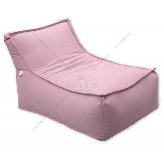 """Πουφ """"Άτλας 1"""" με ύφασμα ροζ χρώμα, κατάλληλο για πισίνα, παραλία, κήπο ή ακόμη και εσωτερικό χώρο!"""