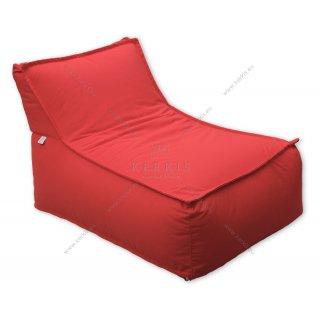 """Πουφ """"Άτλας 1"""" σε κόκκινο χρώμα, κατάλληλο για κάθε εξωτερικό χώρο!"""