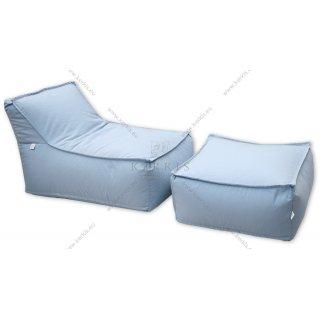 """Πουφ """"Άτλας 1"""" και σκαμπό """"Άτλας"""", κατασκευασμένα από την Kerkis Tailormade Comfort σε υπέροχο γαλάζιο χρώμα!"""