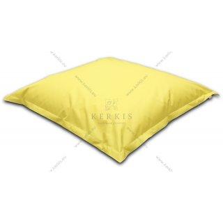 """Πουφ """"Δίας"""" από την Kerkis Tailormade Comfort σε φωτεινό κίτρινο για την πιο χαρούμενη νότα διακόσμησης και χαλάρωσης ταυτόχρονα!"""
