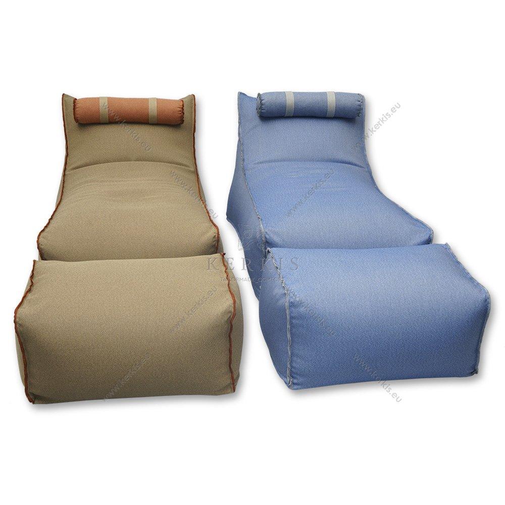 Διαθέσιμα χρώματα στο Πουφ Ήρα της Kerkis Tailormade Comfort
