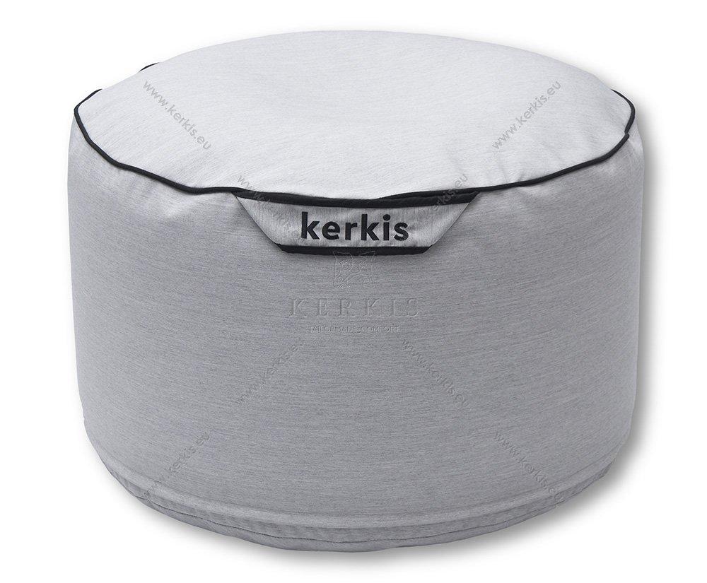 Πουφ Νηρέας Σκαμπό σε στρογγυλό σχήμα και εξωτερική διακοσμητική ραφή. Ιδανικό για εσωτερικό ή εξωτερικό χώρο