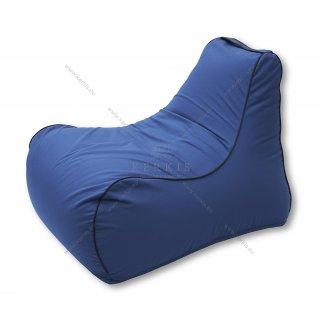 Πουφ πολυθρόνα με ύφασμα outdoor blue navy solution dyed