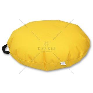 Πουφ Βότσαλο σε χρώμα Κίτρινο