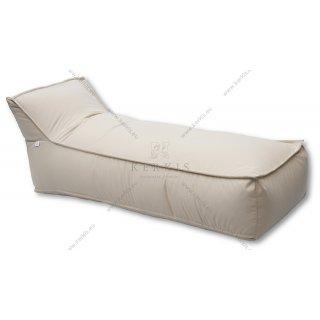Πουφ ξαπλώστρα με ύφασμα outdoor beige solution dyed