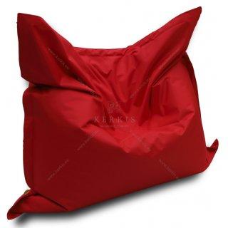 Μαξιλάρι παραλίας - πισίνας σε κόκκινο χρώμα με διαστάσεις 1,50 Χ 1,50. Το τοποθετούμε όρθιο και το απολαμβάνουμε σαν καρέκλα! Καθόμαστε άνετα και μας στηρίζει και την πλάτη!