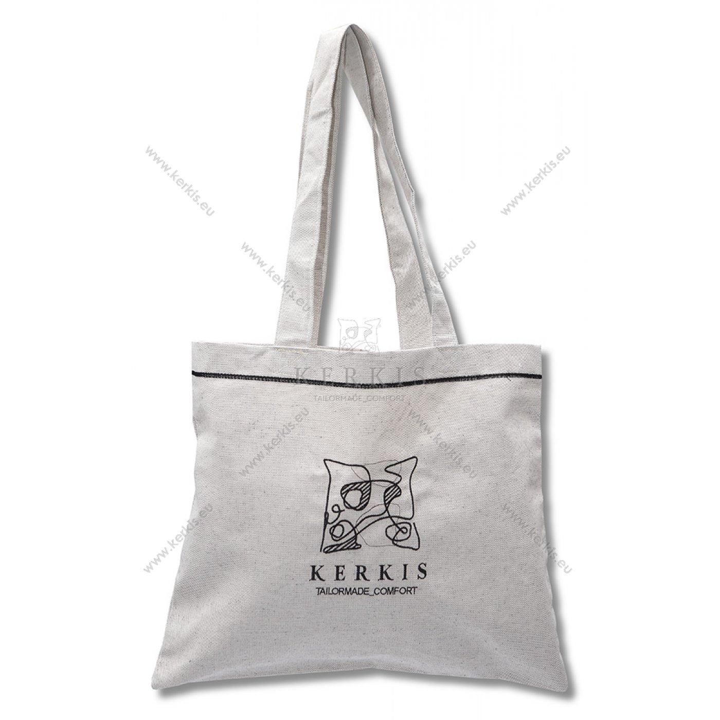 Υφασμάτινη βαμβακερή, διαφημιστική τσάντα με κεντημένο το λογότυπο του ξενοδοχείου σας